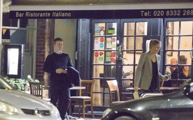 26 October 2018 - EXCLUSIVE. Declan Donelly and wife Ali Astall, are spotted on a rare night out in London. They dined at restaurant, Q Verde in Richmond. They seemed to argue as they left the restaurant, They were distant and walked separately to the car. The new parents were seen taking a night off from looking after their newborn before they head out to Australia for 'I'm a Celebrity, Get Me Out Of Here'. Credit: GoffPhotos.com Ref: KGC-189 **Exclusive to GoffPhotos.com - Newspapers Allrounder - Magazines Double Space Rates - ONLINE/WEB MUST CALL BEFORE USE STRICTLY EMBARGOED UNTIL 17:00 27/10/2018**