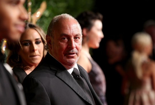 LONDON, ENGLAND - NOVEMBER 23: Sir Philip Green attends the British Fashion Awards 2015 at London Coliseum on November 23, 2015 in London, England. (Photo by Mike Marsland/WireImage)