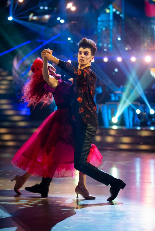 Embargoed to 2030 Saturday October 27 For use in UK, Ireland or Benelux countries only Undated BBC handout photo of Dianne Buswell and Joe Sugg during a dress rehearsal for Saturday's Strictly Come Dancing live show on BBC One. PRESS ASSOCIATION Photo. Issue date: Saturday October 27, 2018. See PA story SHOWBIZ Strictly. Photo credit should read: Guy Levy/BBC/PA Wire NOTE TO EDITORS: Not for use more than 21 days after issue. You may use this picture without charge only for the purpose of publicising or reporting on current BBC programming, personnel or other BBC output or activity within 21 days of issue. Any use after that time MUST be cleared through BBC Picture Publicity. Please credit the image to the BBC and any named photographer or independent programme maker, as described in the caption.