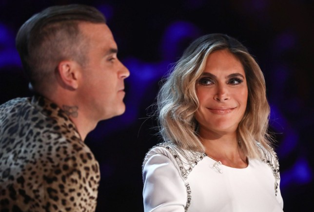 EDITORIAL USE ONLY - NO MERCHANDISING. Mandatory Credit: Photo by Dymond/Thames/Syco/REX (9942424i) Robbie Williams and Ayda Williams 'The X Factor' TV show, Series 15, Episode 17, London, UK - 27 Oct 2018