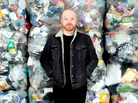 Man collected all the the plastic he used for a year – and this is what it looks like