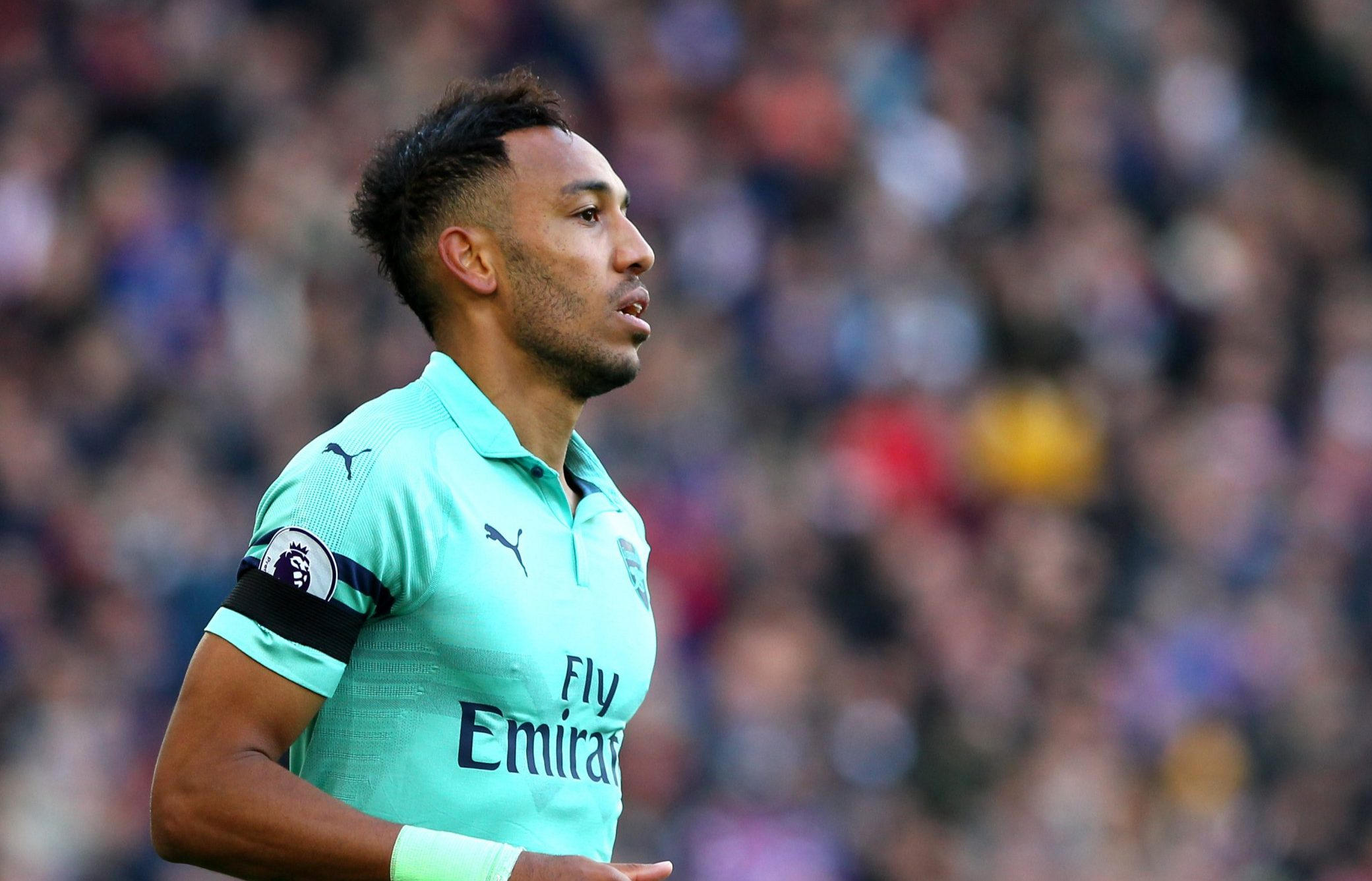 LONDON, ENGLAND - OCTOBER 28: Pierre-Emerick Aubameyang of Arsenal during the Premier League match between Crystal Palace and Arsenal FC at Selhurst Park on October 28, 2018 in London, United Kingdom. (Photo by Chloe Knott - Danehouse/Getty Images)