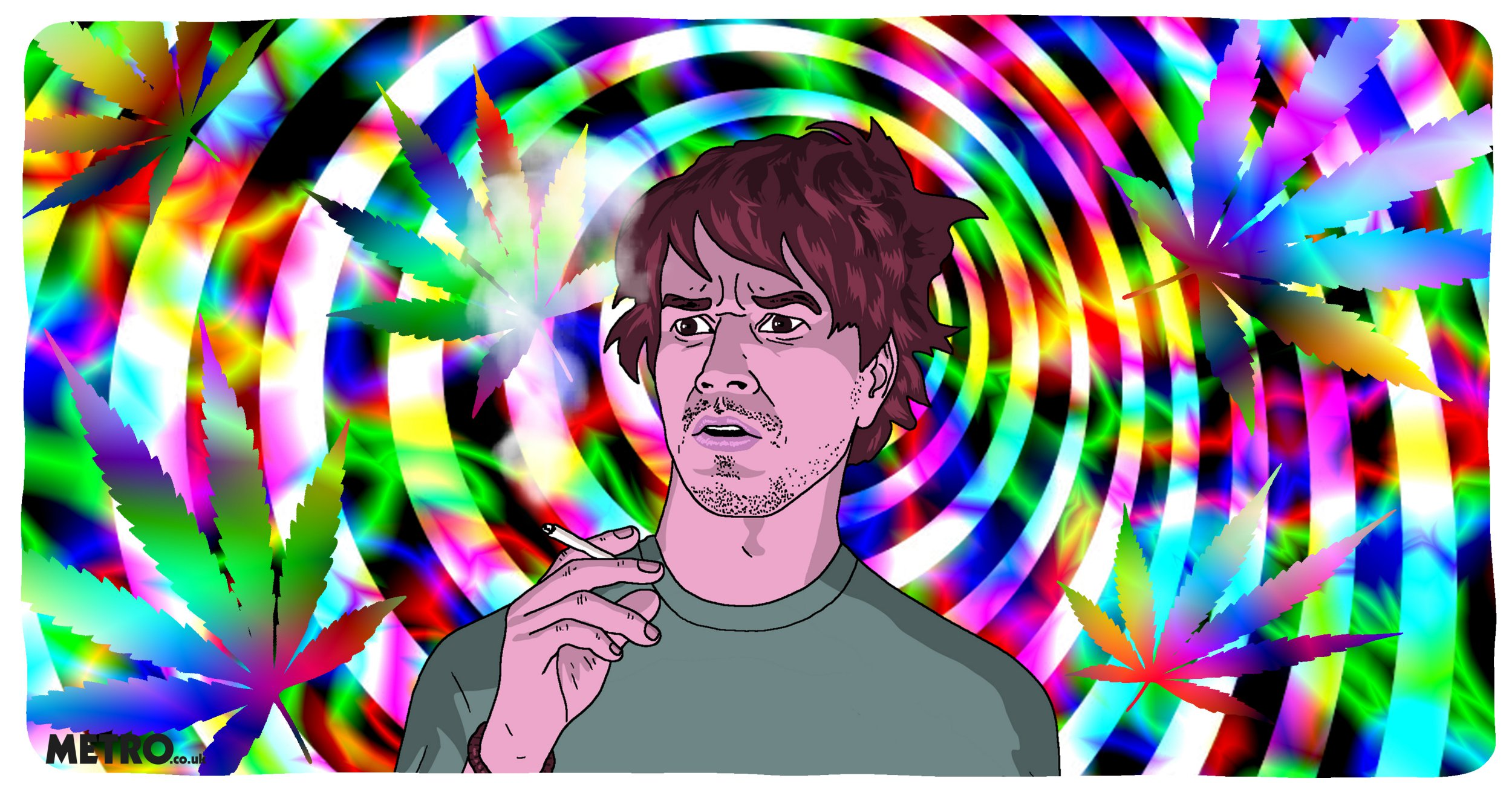 Metro Illustrations Metro Illustration How to tell if you're at risk of psychosis from using cannabis Dave Anderson for Metro.co.uk