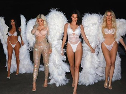 The Kardashians become legit Victoria's Secret Angels for Halloween and it's amazing