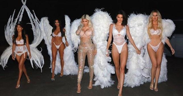 METRO GRAB - Kim Kardashian InstagramKardashians become legit VS angels for HalloweenKim Kardashian