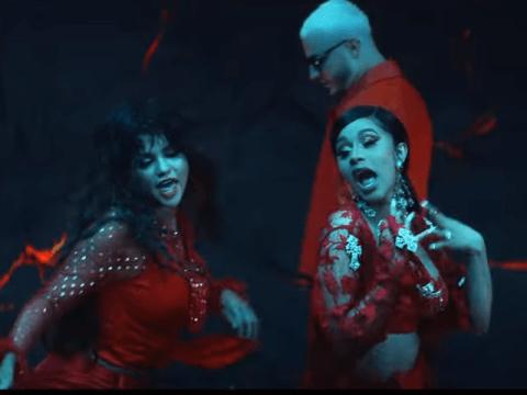 Cardi B and Selena Gomez are rainforest goddesses in sizzling Taki Taki music video