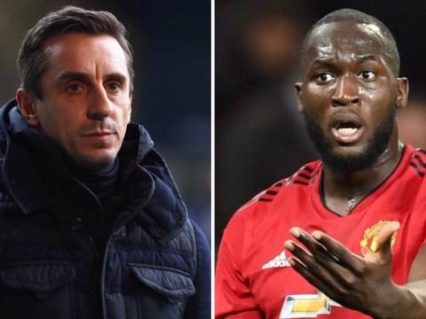Jose Mourinho must keep Romelu Lukaku in Manchester United team, says Gary Neville