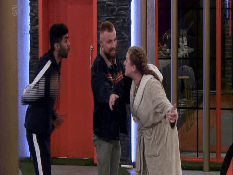Big Brother house descends into chaos as Zoe Jones is physically restrained during row with Hussain Ahmed