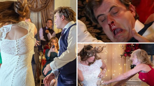 Tracy attacks Steve and Leanne in Coronation Street