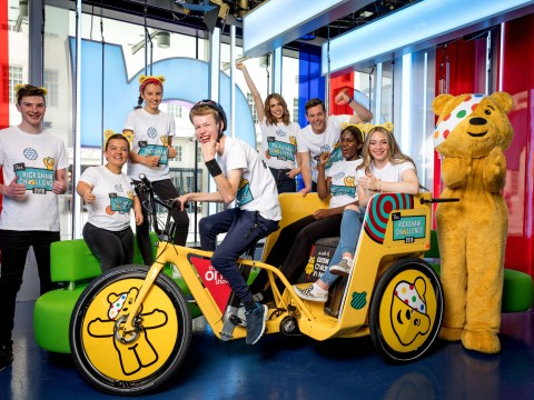 What is the Children In Need rickshaw challenge, who is involved and how can you donate?