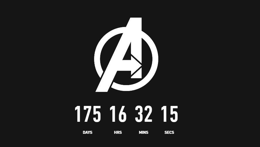 Avengers 4 countdown