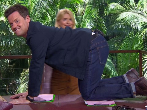 Declan Donnelly twerks on all fours in bid to upstage Holly Willoughby on I'm a Celeb