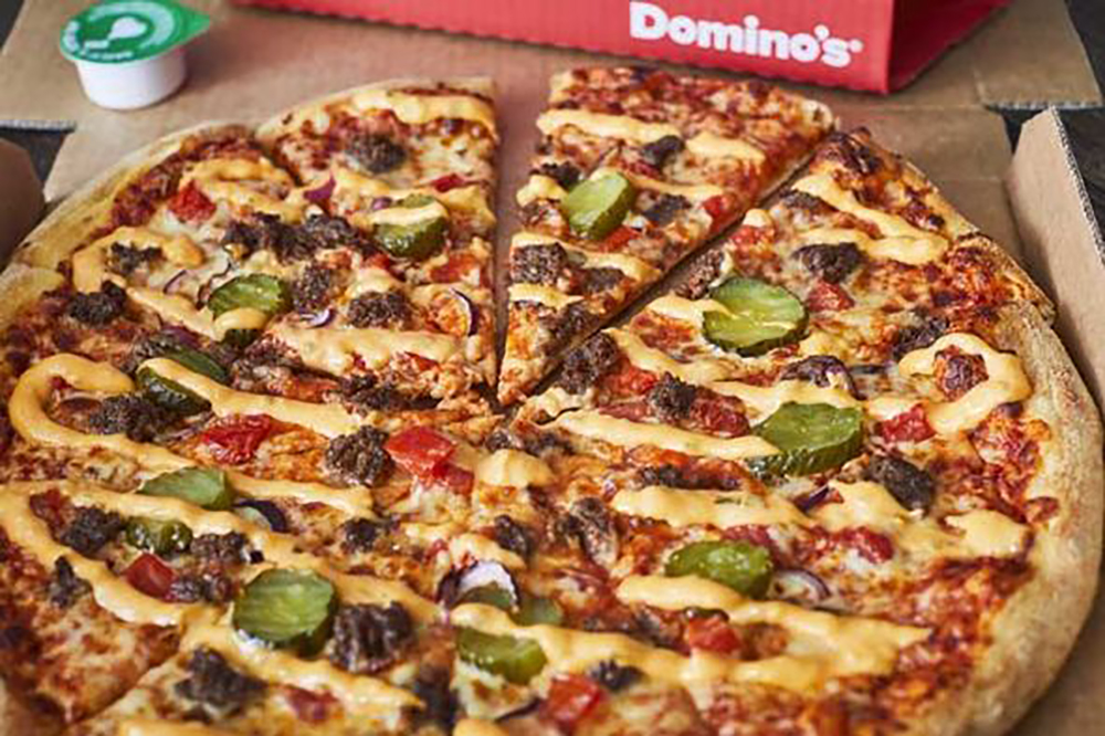 Picture: Dominos Cheeseburger pizza