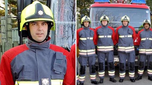 Drunk firefighter died in a chip pan fire at his home