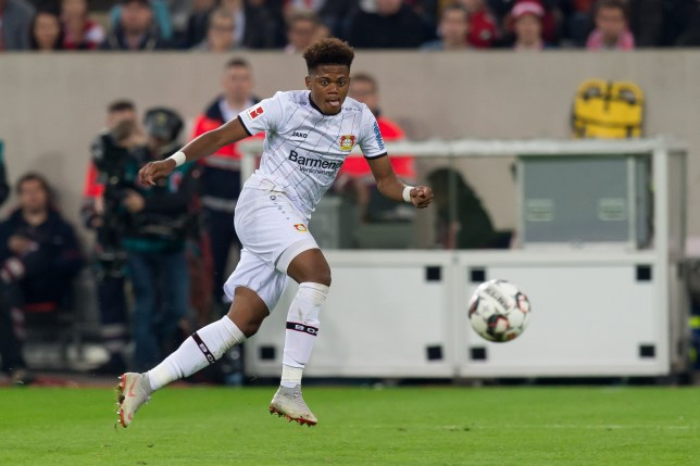 DUESSELDORF, GERMANY - SEPTEMBER 26: Leon Bailey of Bayer 04 Leverkusen controls the ball during the Bundesliga match between Fortuna Duesseldorf and Bayer 04 Leverkusen at Merkur Spiel-Arena on September 26, 2018 in Duesseldorf, Germany. (Photo by TF-Images/Getty Images)