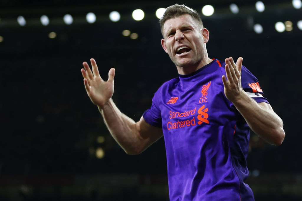 Jurgen Klopp reveals why James Milner was furious with Liverpool teammates during Arsenal match
