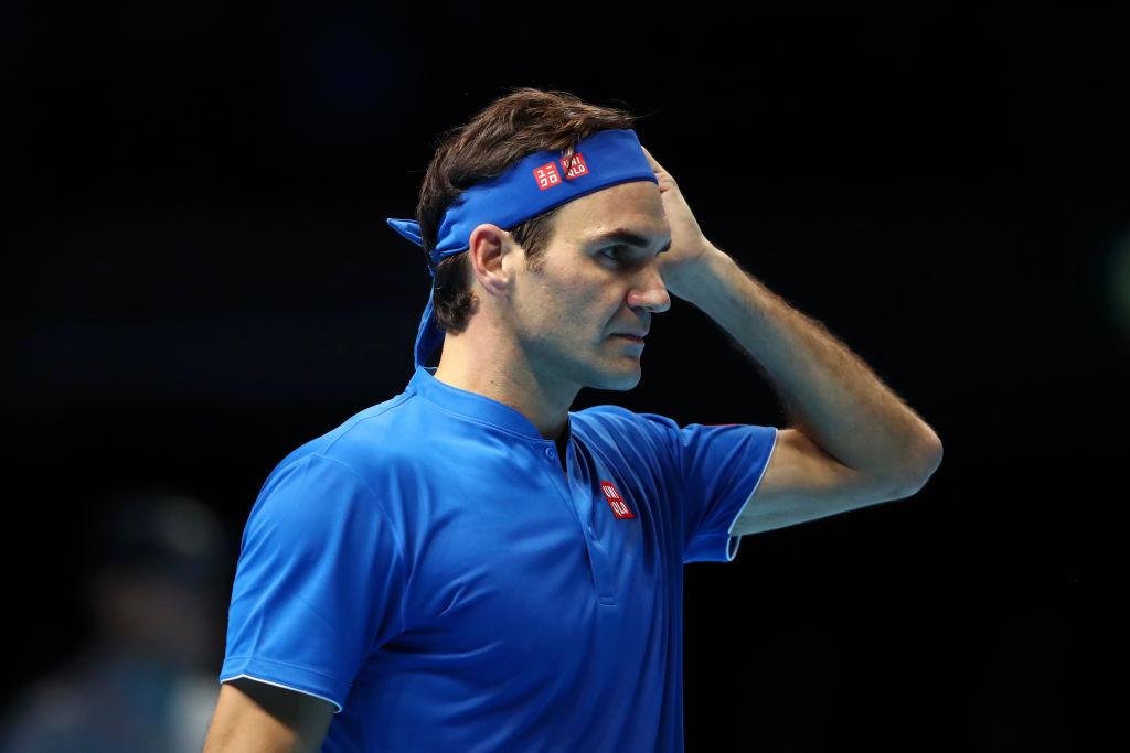 Roger Federer lashes out at umpire after shock ATP Finals defeat