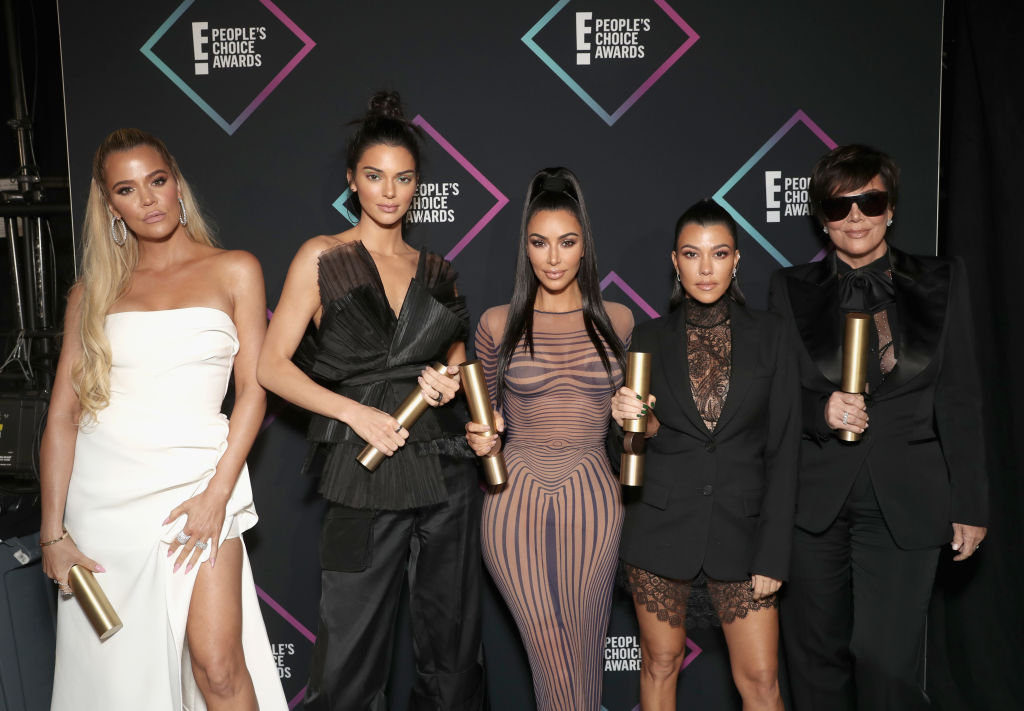 The Kardashians turn out in force for People's Choice Awards as they urge fans to join relief effort for California wild fires