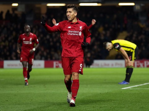 Roberto Firmino back amongst the goals as Liverpool thump Watford at Vicarage Road