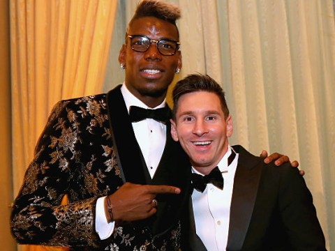 Paul Pogba chats about France's infamous N'Golo Kante chant with Lionel Messi in Dubai