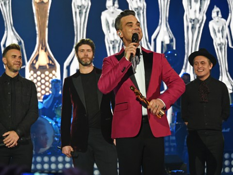 Robbie Williams is totally up for Take That reunion tour – that's if they will have him on board