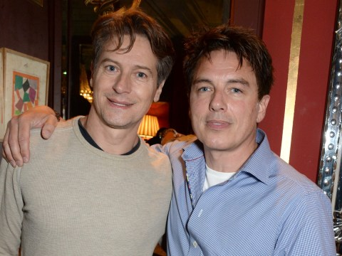 Who is John Barrowman's husband Scott Gill as his Scottish parents film messages of support on Instagram?