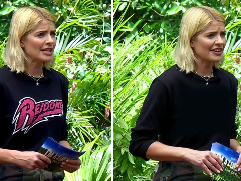 I'm A Celebrity fans baffled as Holly Willoughby's jumper changes during Anne Hegerty's Bushtucker trial