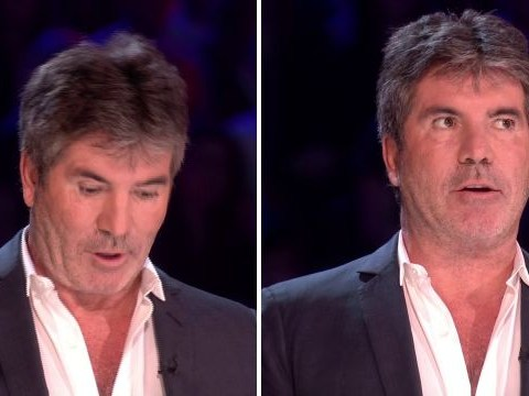 Simon Cowell slips up twice on The X Factor as he forgets which act is next: 'This is live TV!'
