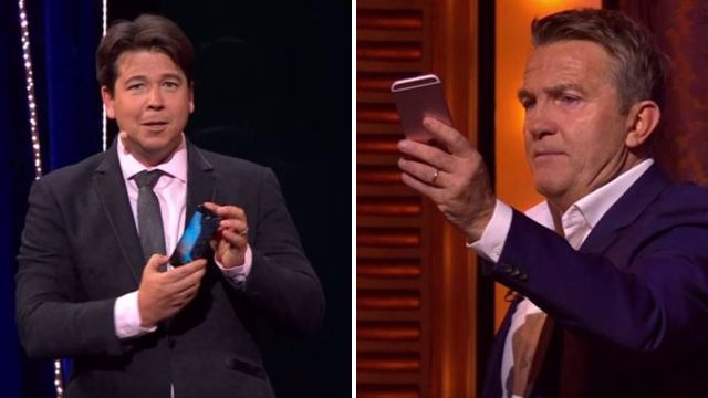 Bradley Walsh horrifies Michael McIntyre as he smashes phone to smithereens during Send To All