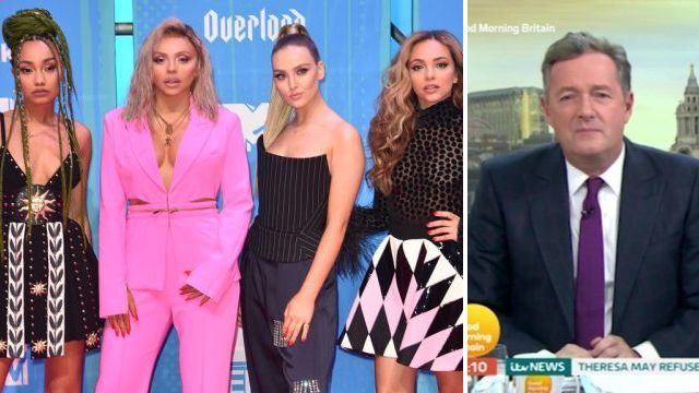 Jesy Nelson brands Piers Morgan a 'silly t**t' after he claims Little Mix are 'using sex to sell albums'