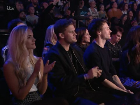 Mamma Mia's Lily James, Jeremy Irvine and Hugh Skinner reunite for X Factor's ABBA special