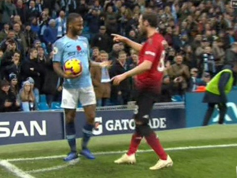 Juan Mata has furious reaction to Raheem Sterling's showboating against Manchester United