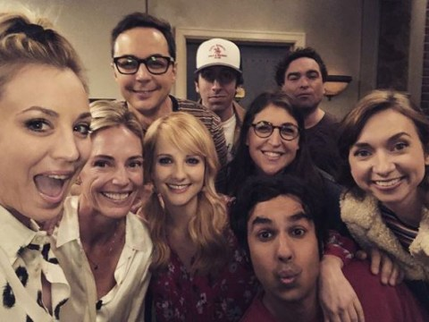 Kaley Cuoco shares cute behind-the-scenes snap of whole The Big Bang Theory cast as final season continues