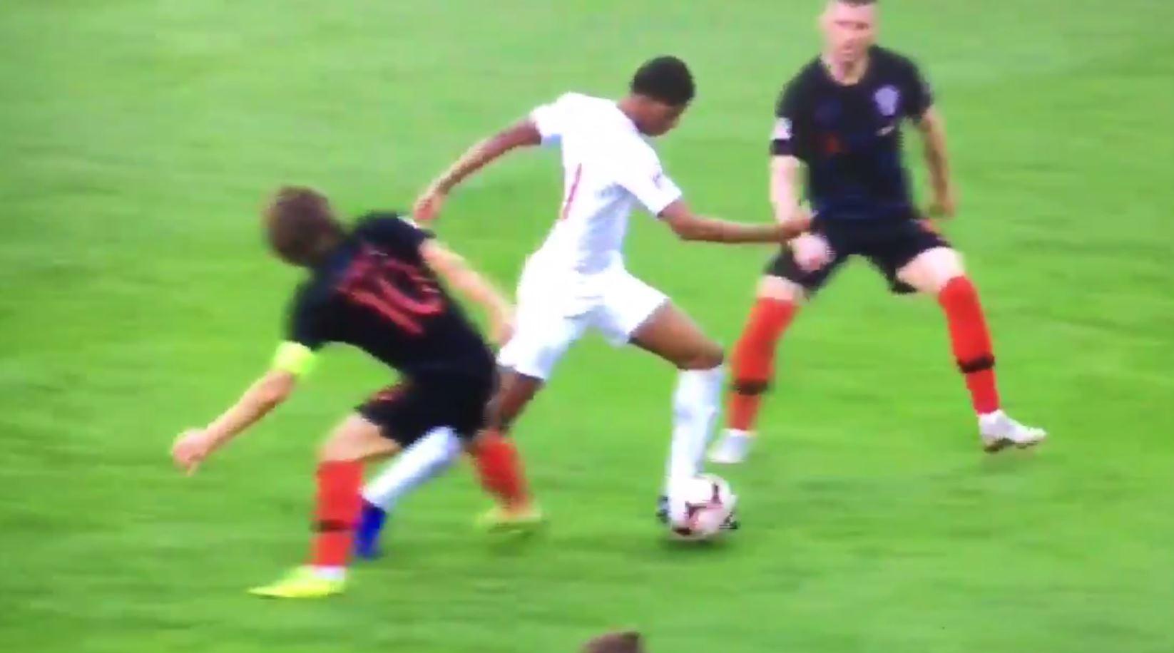 Marcus Rashford sends Luka Modric back to Spurs with superb skill in England vs Croatia