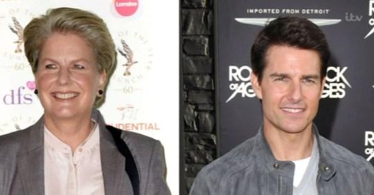 Sandi Toksvog and Tom Cruise