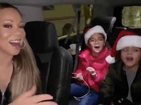 Mariah Carey has taught her twins all the words to All I Want For Christmas but the seatbelt police spoil their fun