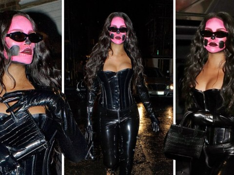 Rihanna goes S&M for Halloween in latex corset as she embraces new 'thickness'