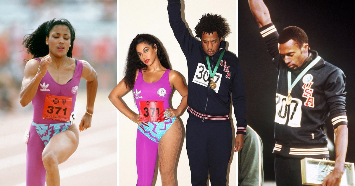 Beyonce and Jay Z pay tribute to black sporting excellence in incredible Flo-Jo and Tommie Smith costumes