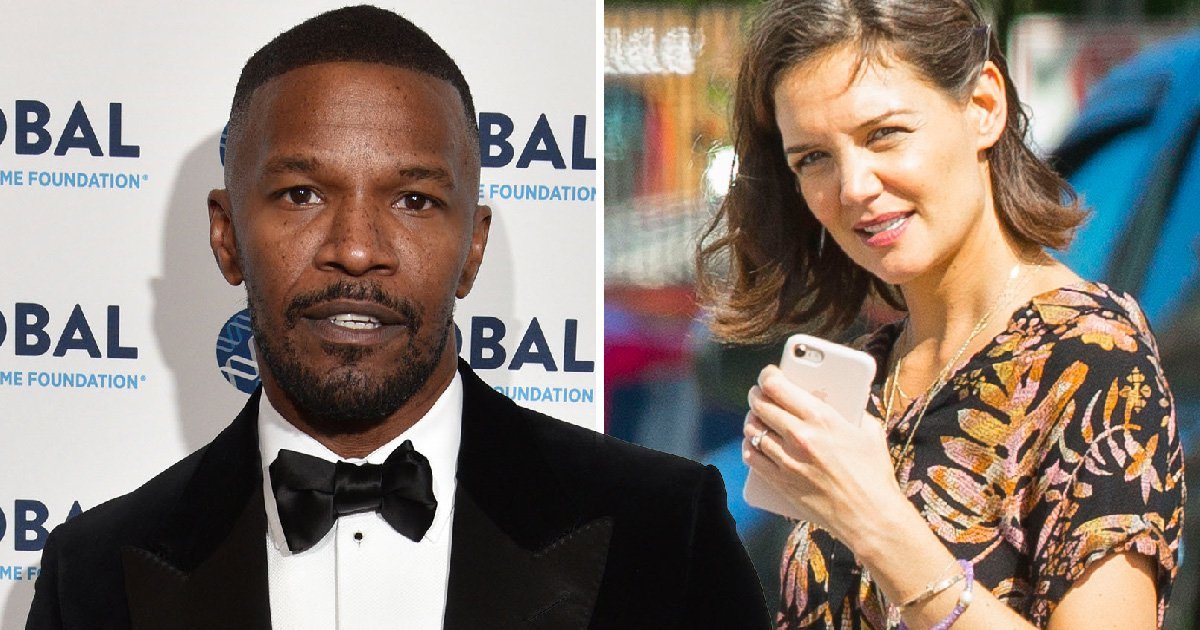 Katie Holmes confirms she's not engaged to Jamie Foxx after being spotted wearing diamond ring