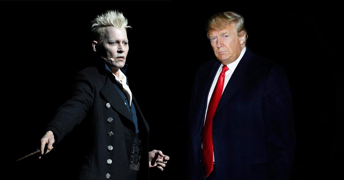 Fantastic Beasts actors address idea Johnny Depp's Grindelwald is based on Donald Trump