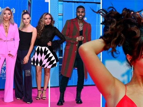 MTV EMA: Camila Cabello is feeling herself as she joins Little Mix and Jason Derulo on star-studded red carpet