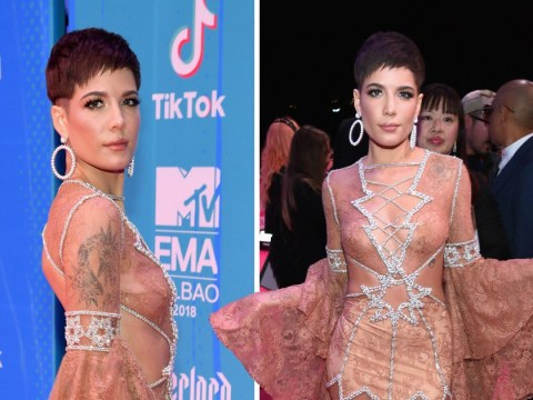 Halsey appears to make nice with MTV and she attends EMAs despite not being nominated – again