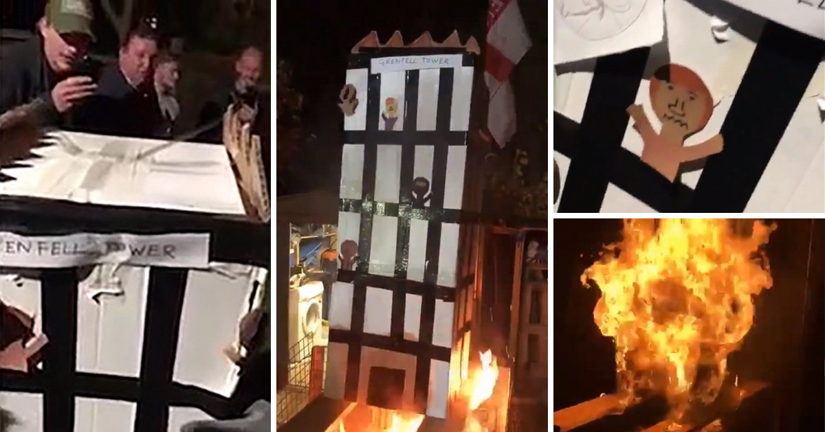 Grenfell community 'disgusted and shocked' by burning effigy of tower