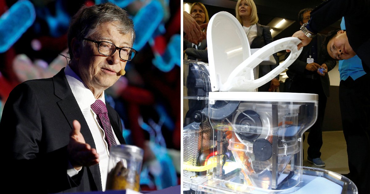 Bill Gates unveils toilet of the future and admits he really 'loves' lavatories