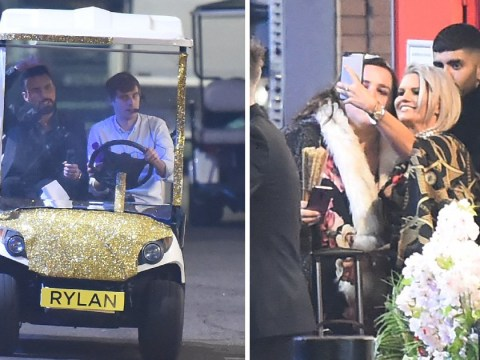 Rylan Clark-Neal jets off in sparkly golf buggy after Big Brother final and we wouldn't have it any other way