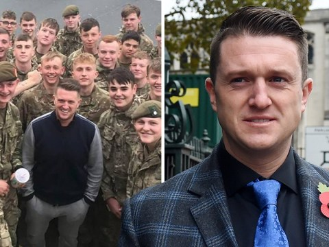 Tommy Robinson visits Number 10 in protest at soldier 'being dismissed for selfie'