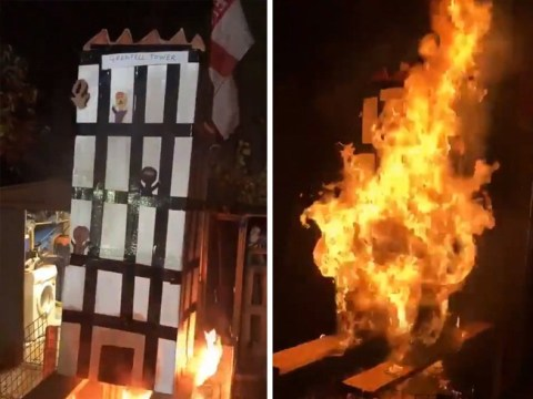 Six men arrested over Grenfell bonfire video released by police
