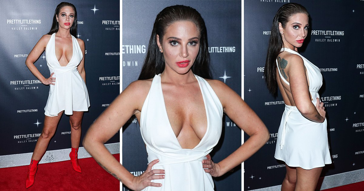 Tulisa is feeling herself in daring mini-dress as she celebrates landing first leading role