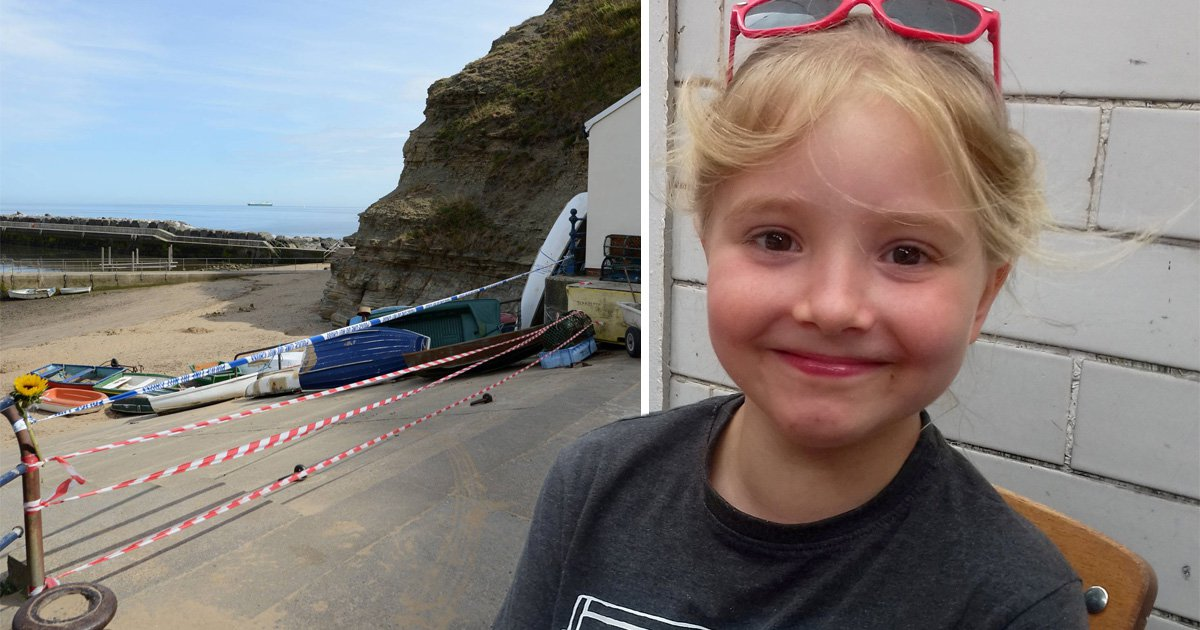 Girl, 9, killed by falling boulder on the beach was in the 'wrong place at the wrong time'