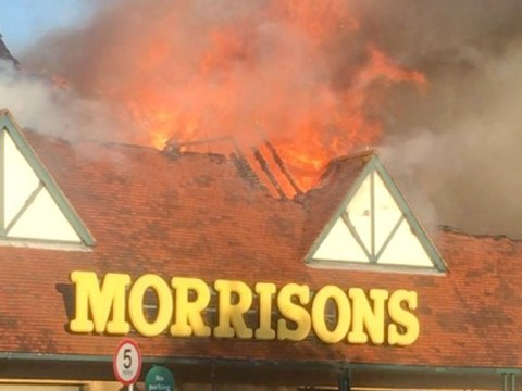 Morrisons store gutted by huge fire started after chip pan was left on